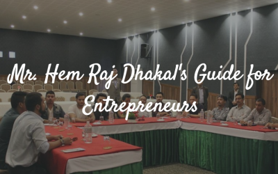 Mr. Hem Raj Dhakal's Guide for Entrepreneurs.